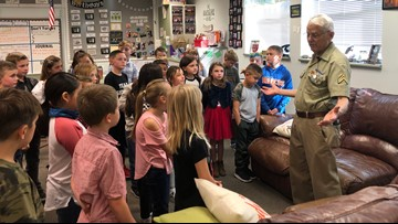 7's Hero: Veteran warms hearts by surprising Nampa third graders with a spontaneous show of patriotism