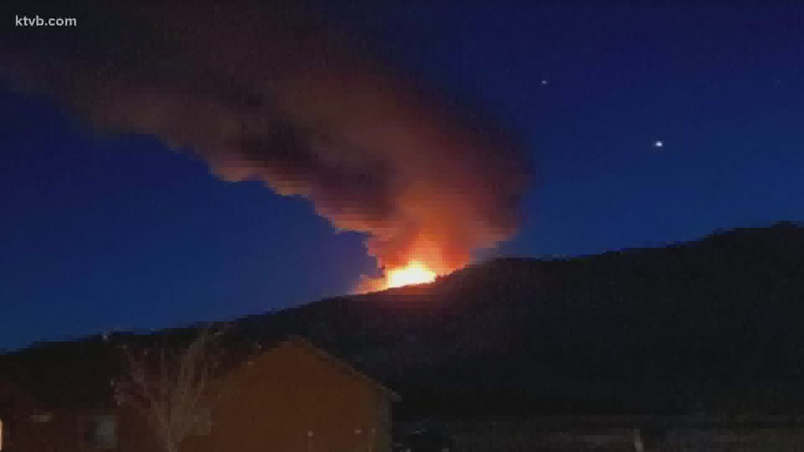 West State Fire burning near Tamarack Ski Resort