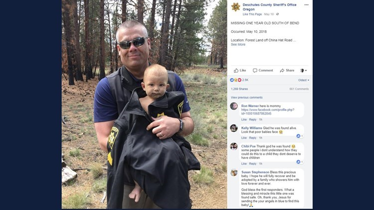 Dad accused of abandoning baby in Oregon woods takes plea