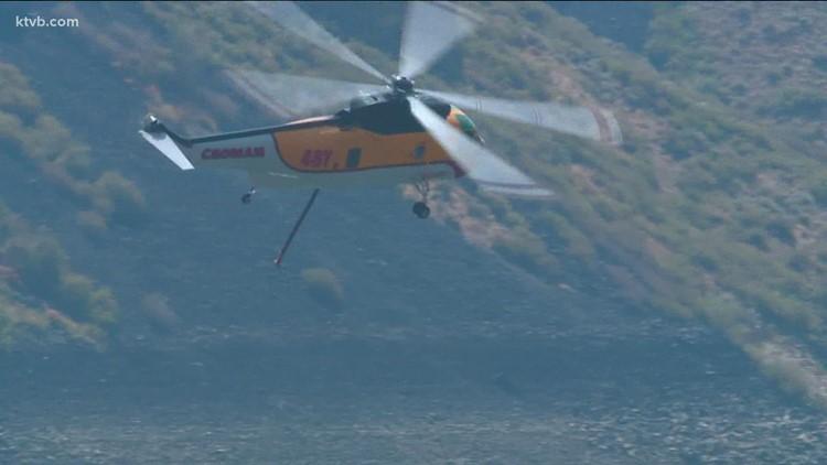 Deer Fire near Arrowrock Dam grows to 1,000 acres