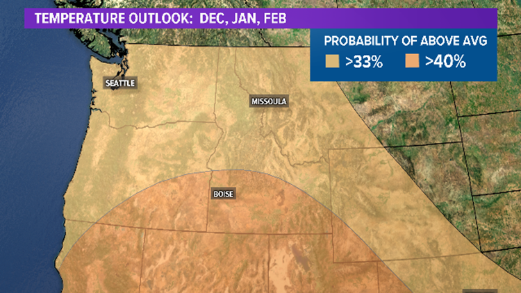 Climate Prediction Center Temperature Outlook:  D, J, F