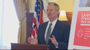 Idaho Gov. Brad Little celebrates achievements in education, health care during first 100 days in office