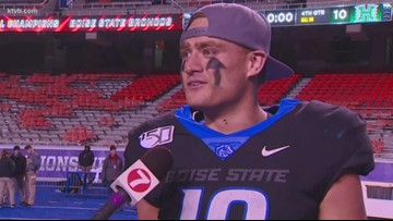 Boise State Kekoa Nawahine talks about living out his dream of playing on the Blue and winning the MWC title