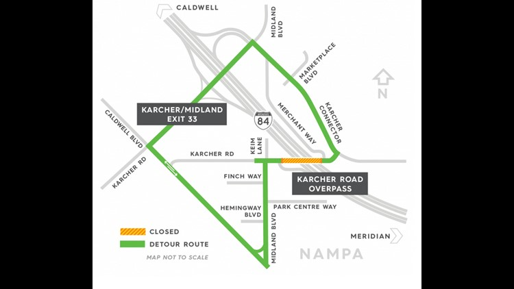 Karcher Road overpass to be closed for 9 months starting this week