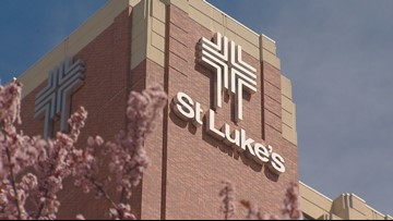 Gas leak reported at St. Luke's Boise after car backs into building