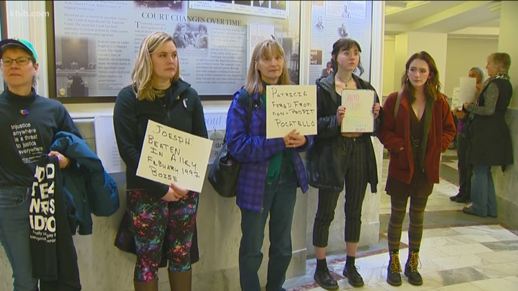 'Add the Words' demonstration held at Idaho Capitol