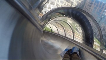 WATCH: Riding the five-story JUMP Boise slide