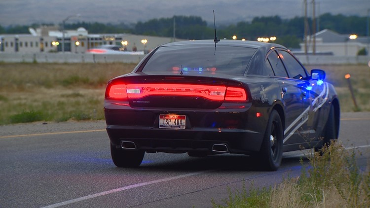 One person was taken to the hospital after a semi truck hit a car that was stopped on Interstate 84 early Friday morning.