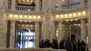 Where's Larry? Idaho Statehouse, Buy Idaho Day