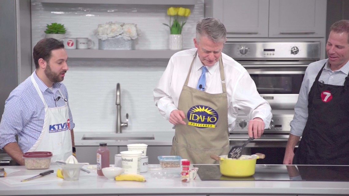 Breakfast with Brad: Gov. Little talks growth, legislature while making his famous Idaho oatmeal