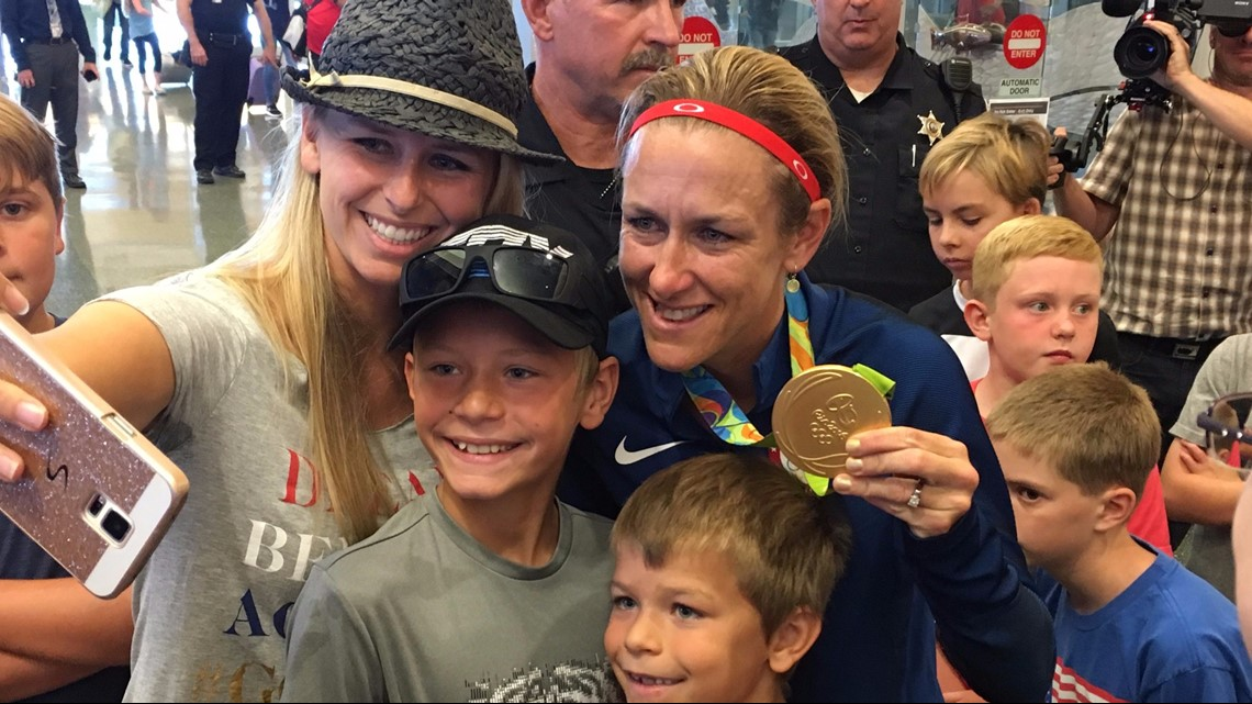 Hometown celebrations: When Olympians return from the games