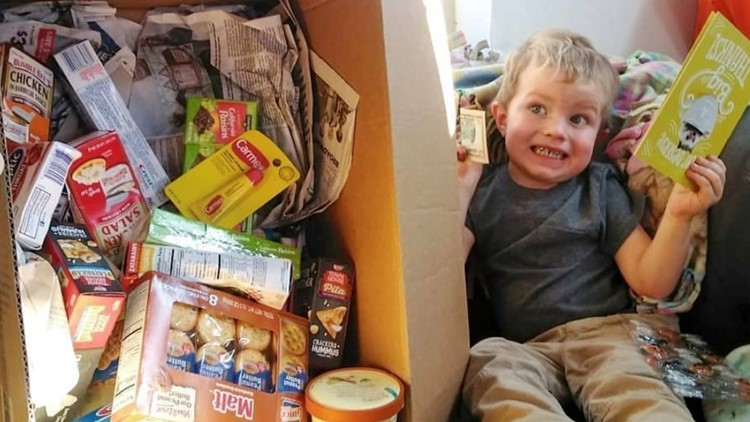 Miles Herndon, 3 celebrated his birthday by asking for donations for his Little Free Pantry project.