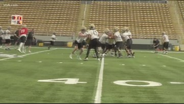 The University of Idaho Idaho Vandals started spring ball last week, with a spotlight on quarterbacks