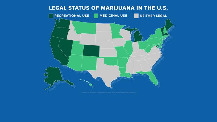 Legal status of marijuana in the U.S.