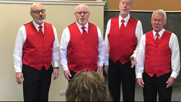 Where's Larry? Area office, Singing Valentine