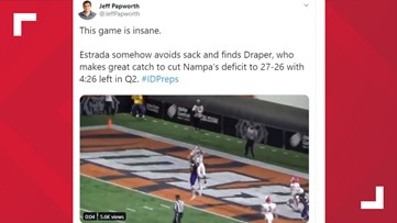 Nampa High football player's incredible catch featured on ESPN