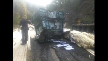 Logging truck crash on Highway 95 | ktvb com