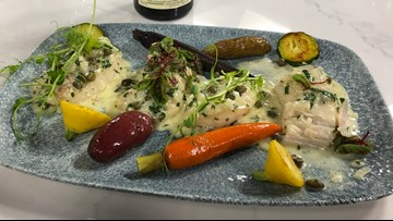 KTVB Kitchen:  Chef Bacquet shows how to cook halibut cheek piccata