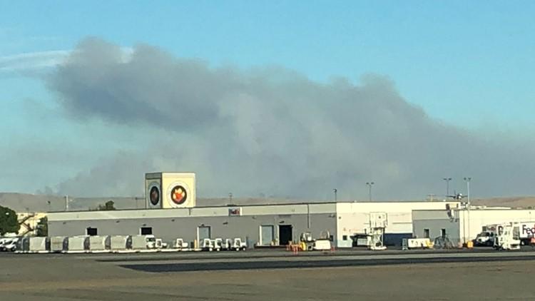 Blacks Creek fire smoke