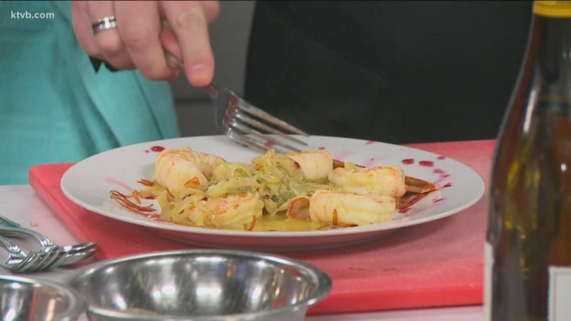 KTVB Kitchen with Chef Franck Bacquet: Large prawns in orange and ginger sauce