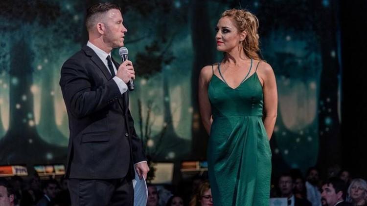 Jeremy and Karalie DeLuca at the 2019 Jayden DeLuca Foundation Masquerade Ball.