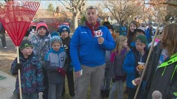 Kids help with Rake Up Boise