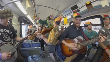Idaho Life: Bands jam with bus riders during Treefort Music Fest