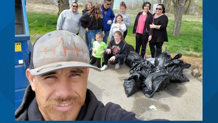 7's HERO: Nampa man organizes trash clean up at Lake Lowell