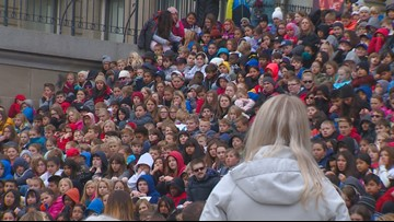 Big rally at Idaho Capitol for the start of Red Ribbon Week