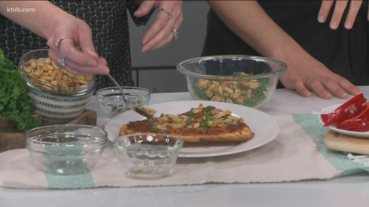 KTVB Kitchen: Thai curry coconut peanut topper & Sicilian pizza