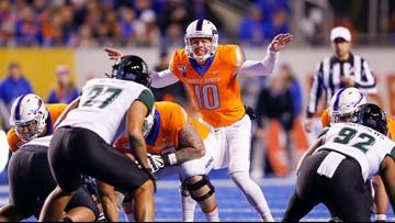 No. 14 Boise State loses freshman quarterback Hank Bachmeier, beats Hawaii 59-37