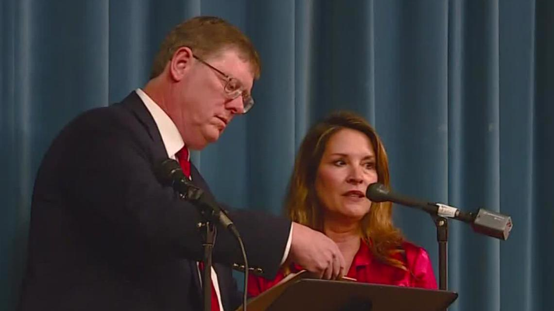 Lt. Gov. McGeachin holds a press conference in Ammon, Idaho