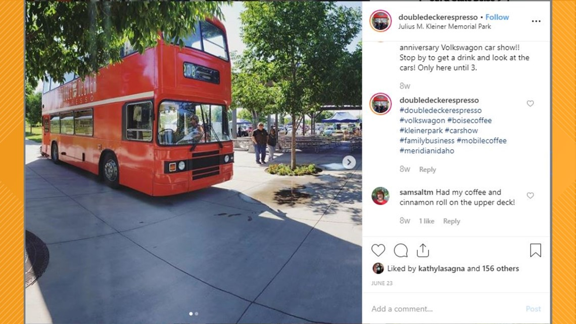 Red double-decker bus from London is attracting a lot of looks here in the Treasure Valley, so what is it all about?