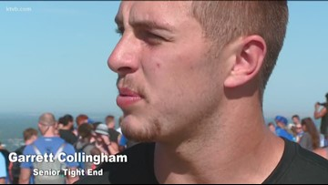 Boise State football marks the end of fall camp with annual Table Rock hike