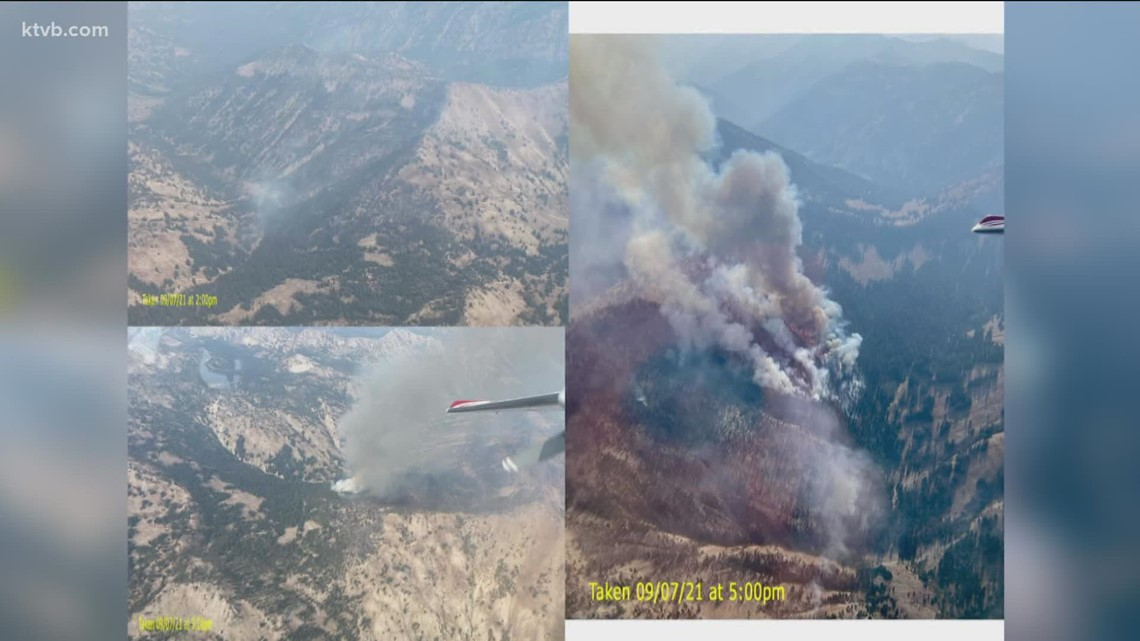 Jakes Gulch Fire burns 330 acres south of Stanley
