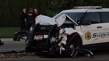 Canyon County sheriff's deputy involved in crash during high-speed chase in Nampa