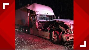 Westbound I-84 near La Grande closed due to semi-truck crash