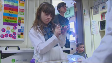 Second-grade scientists tackle engineering at Jefferson Elementary
