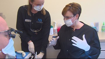 Do My Job: Maggie works as a dental assistant