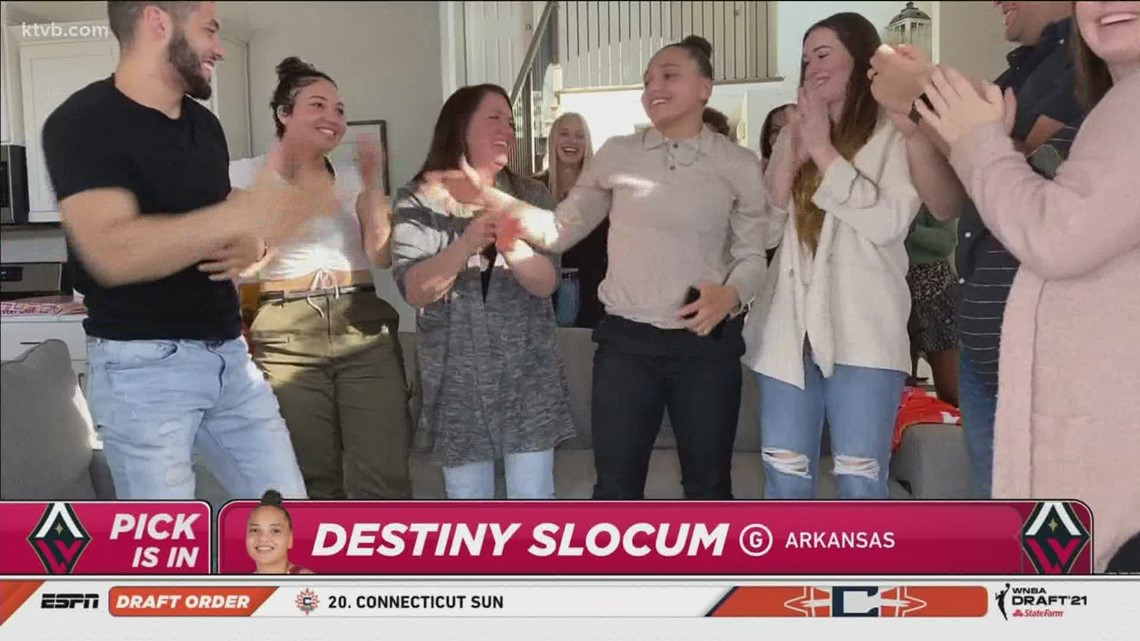 Idaho's Destiny Slocum selected 14th overall by Las Vegas Aces in WNBA Draft