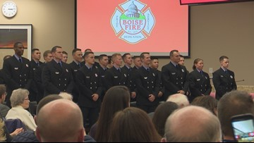 Boise Fire welcomes 21 new firefighters in department's largest graduate academy