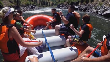 Dozens of Caldwell kids go river rafting for the first time