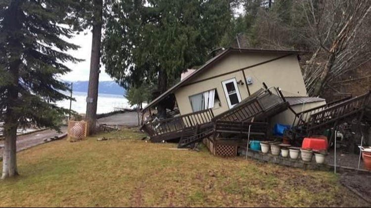 Lee and Myola Stewart's home overlooking Lake Pend Oreille was destroyed by a landslide in March 2017.