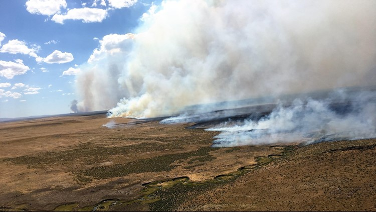 More than 600 firefighters continue to battle temperatures approaching triple-digits in difficult high-desert terrain about 20 miles south of the Idaho line.