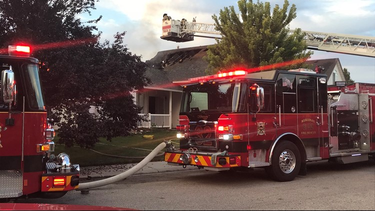 A Meridian firefighter was injured.