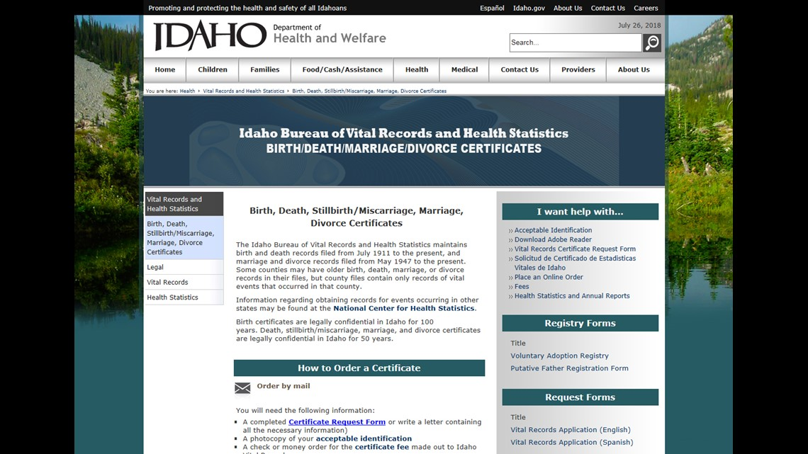 Idaho Seeing Applications To Change Birth Certificate Gender Ktvb