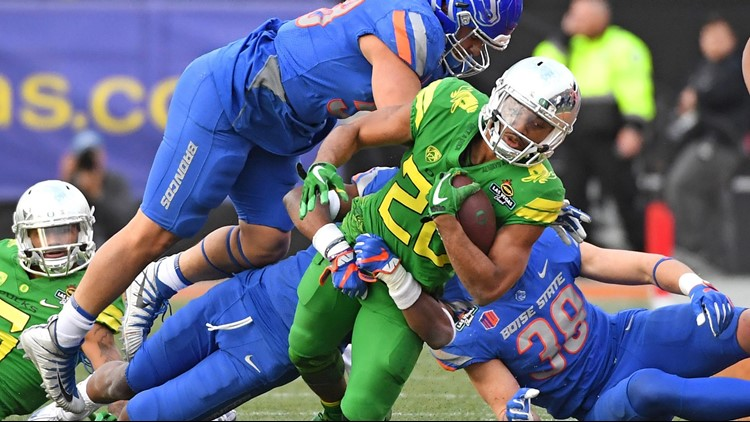 Oregon has never beaten Boise State in football, but the Ducks will take three more shots in the mid-2020's.  UO, as you know, is 0-3 against the Broncos—one at home, one on the road and one in a bowl.
