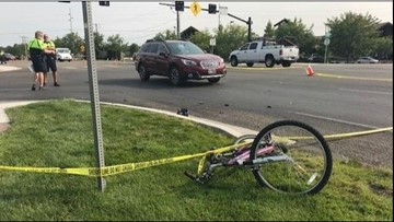 Eagle woman charged in crash that killed cyclist last summer