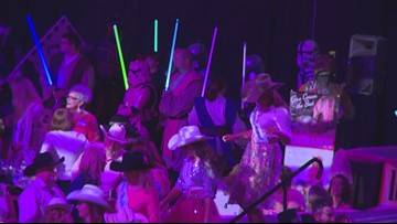 500 people dress in pink to support Stampede for the Cure