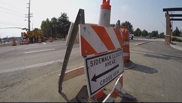 Where the Sidewalk Ends   Hazards for pedestrians, cyclists at one of Boise's busiest intersections